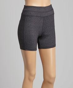Look what I found on #zulily! Charcoal Tummy-Control Zip Shorts #zulilyfinds