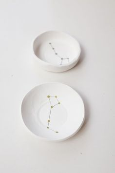 DIY Constellation Air Dry Clay Bowls Tutorial