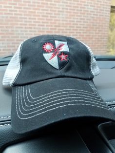 7742f052edda8 Hat - 75th DUI Blood Shield Black Trucker