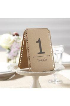 Lot de 12 Marque Table nombre de 1 à 12 - Déco de table mariage chic