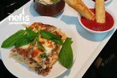 Fırında Beşamel Soslu Kıymalı Makarna Tarifi Lasagna, French Toast, Dinner, Breakfast, Ethnic Recipes, Food, Pizza, Lasagne, Breakfast Cafe