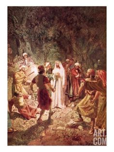 Judas Betraying Jesus with a Kiss, in the Garden of Gethsemane Giclee Print by William Brassey Hole at Art.com
