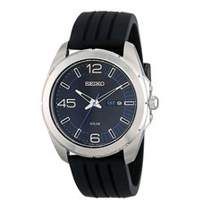 Seiko Men s SNE277 Stainless Steel Watch with Black Band  373039908c
