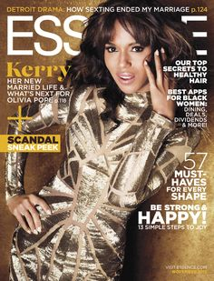 #CeleBeauty Watch: Kerry Washington is Solid Gold on the November 2013 Essence Cover