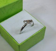 Ring Silber 925 Ring mit Herzchen Doppel rar SR572 von Schmuckbaron