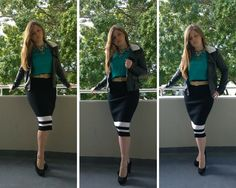 Wear one skirt four ways and look fabulous at the office this winter. Sports Luxe, The Office, Pencil, Skirts, How To Wear, Fashion, Moda, Fasion, Skirt