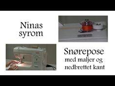 Å lage sine egne kantebånd og skråbånd er kanskje enklere enn du tror? Sjekk denne videoen fra Ninas syrom, så får du også kanskje lyst til å lage noen selv. Origami, Tote Purse, Youtube, Design, Fiber, Totes, 3 Movie, Purses, Bags
