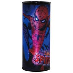 """Marvel Comics Round Acrylic Hanging Nightlight Collection Marvel Comics Size 12"""" Tall Metal Handle & 39"""" Chain For Hanging Light Bulb Included Requires 4 AA Batteries Not Included Officially Licensed By Marvel Comics #SuperHero #Marvel #NightLight"""