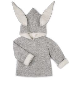 Oeuf Organic Animal Hoodie - bunny