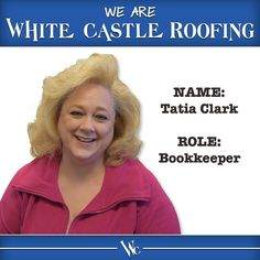 "Is the glass half-empty or half-full? And what the heck is ""Gooch""? Find out on our blog today when you get to know bookkeeper Tatia Clark! Link in bio. #WeAreWhiteCastle #team #roofing #roofrepair #roofer #omaha #lincoln #grandisland https://www.instagram.com/p/BQv1Y1Bg5Ku/ via www.whitecastleroofing.com"
