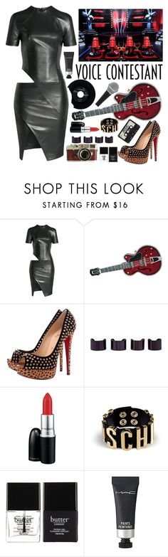 """""""Pick your Team"""" by karineminzonwilson ❤ liked on Polyvore featuring Alexandre Vauthier, Judith Leiber, Christian Louboutin, Maison Margiela, MAC Cosmetics, Moschino, CHESTERFIELD, Leica, Butter London and country"""
