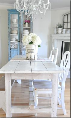 Our farmhouse dining room on the summer home tour with bHOME!