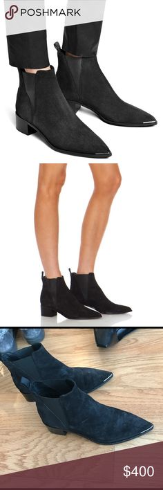 Acne Jensen boot black suede Why oh why am I so powerless when it comes to ankle boots. There should be a specific name for my ankle boot addiction. I hear the first step is admitting that you have a problem. Of course when every single fashion blogger started strutting around in these I needed to have them immediately. Still only worn about 3 times as they don't fit with my current lifestyle. Reluctantly selling these to make space in my tiny city apartment! Acne Shoes Ankle Boots & Booties
