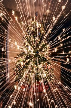 What Happens When You Take A Long-Exposure Picture Of A Christmas Tree While…