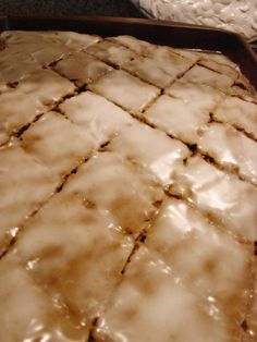 Fabulous Lebkuchen aka honey cake Mom made this every christmas She frosted it differently