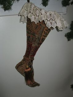 Victorian Christmas stocking by drenfrew on Etsy, $100.00