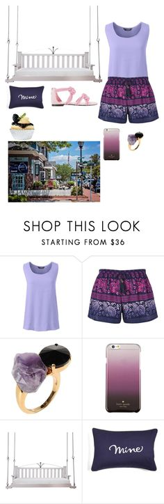 """""""In college working part time waiting tables"""" by nataliemroller ❤ liked on Polyvore featuring Lands' End, Band of Gypsies, Marni, Kate Spade, Lowcountry Originals and Maison Ernest"""