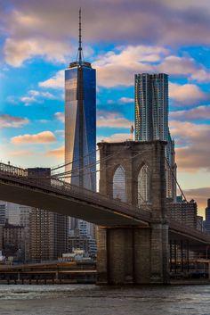 Brooklyn Bridge, New York World Trade Center Nyc, Nyc Pics, Brooklyn Bridge Park, New York Life, New York City Travel, New York Photos, City Wallpaper, City Aesthetic, Dream City