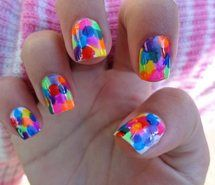 Inspiring picture colorful, cool, glow, nail polish, nails. Resolution: 500x375 px. Find the picture to your taste!