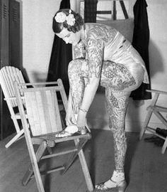 tattooed lady | Tumblr  Betty Broadbent