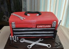 Mechanic's Toolbox - cute cake for a guy!!
