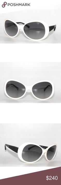 003f71aa215e Shop Women s CHANEL Black White size 58 Sunglasses at a discounted price at  Poshmark. Description  Excellent condition