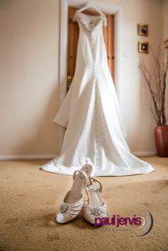 Wedding dress Hanging wedding dress by Paul Jevis Photography , Northern Ireland