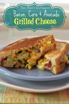 The Bug's Ultimate Bacon, Corn & Avocado Grilled Cheese | cupcakesandkalechips.com | #grilledcheese #bacon #avocado #glutenfree