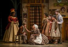 Cratchit Family, Fan, Caroline, Young Scrooge in his first scene Christmas Carol Charles Dickens, Photo Galleries, Scene, Seasons, Costumes, Theatre, Fan, Kitchen, Design