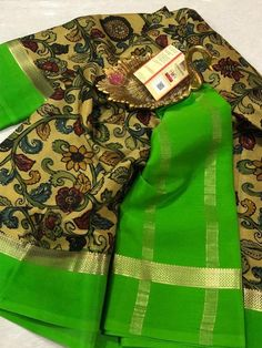 Mysore Silk Saree, Silk Sarees, Elegant Fashion Wear, Saree Blouse Designs, Saree Collection, Collections, Printed, Fabric, How To Wear