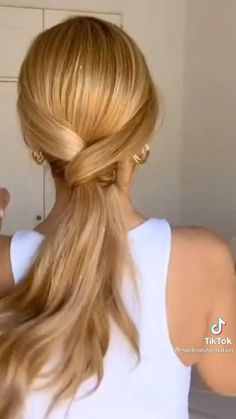 Hairdo For Long Hair, Easy Hairstyles For Long Hair, Summer Hairstyles, How To Ponytail Hairstyles, Style Long Hair, Medium Hair Updo Easy, Easy Hairstyles Tutorials, Long Hair Tutorials, Long Hair Updos