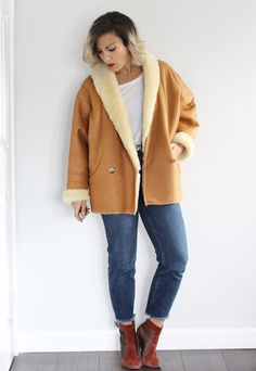 Stunning Vintage 1980s tan... now available! http://www.we-love-vintage.com/products/vintage-1980s-tan-leather-sheepskin-oversized-coat?utm_campaign=social_autopilot&utm_source=pin&utm_medium=pin