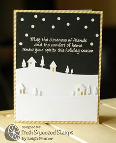 Gorgeous card by Leigh Penner (Fresh Squeezed Stamps: October Release Week Day 2 - Inside Scoop: Holiday)