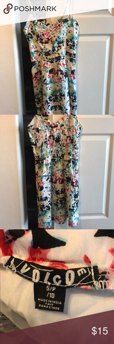Volcom foral dress in size Small. Volcom floral patterned dress in size small. Like new. Worn once. Volcom Dresses Mini
