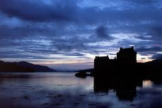"Eilean Donan Castle at dusk. Thank you to all of those who supported my earlier post about digital downloads landing on my website. The good news is that all of my ""for sale"" items are now available to download as high or low resolution digital files and even better is the news that you only have to acquire the licence once and you can use the photos as many times as you want in the manner specified in the licence. Yippee!!!"