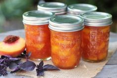 Peach Jam with Purple Basil | A Red Binder