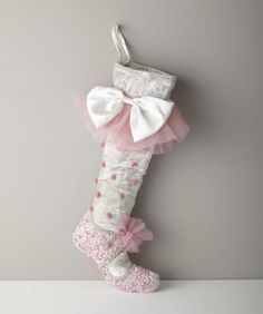 personalized ballet slipper stocking