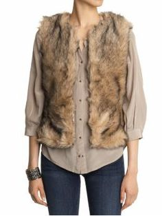 Natural faux fur vest. CAN'T WAIT TO WEAR THIS!