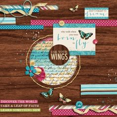Born to Fly | Stunning photo-less scrapbook page. Absolutely Gorgeous!
