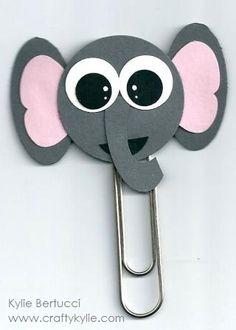 Stampin' Up! Punch Art Bookmark Kit - Elephant