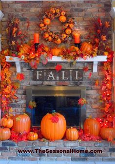 Fall decorating--a little over the top, but some good ideas.