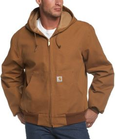 WARM & POPULAR!! Carhartt Men's Thermal Lined Duck Active Jacket J131: Clothing