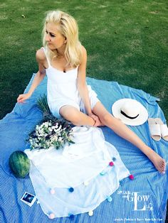 Let's make a picnic… Picnic Blanket, Outdoor Blanket, Spring Is Here, Trends 2018, Spring Fashion, Summer Dresses, Celebrities, Pretty, How To Make