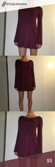 Forever 21 burgandy mini dress size medium Strechy fabric, has very nice drape, semicircular. Good used condition Forever 21 Dresses Mini