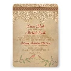 ShoppingVintage Lace Rustic Wedding Invitationlowest price for you. In addition you can compare price with another store and read helpful reviews. Buy