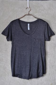 Basic V Tee in Charcoal on Emma Stine Limited