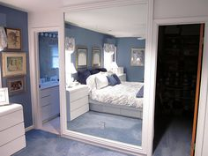 framing a large mirror with molding: tutorial