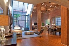 indoor brick and wood- fabulous!