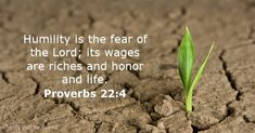 Proverbs 22:4 - Bible verse of the day - DailyVerses.net