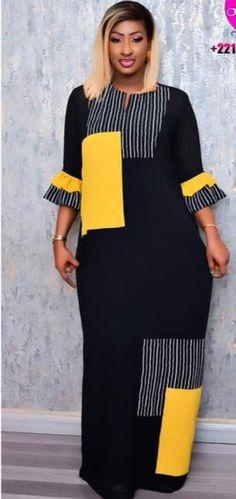 Short African Dresses, Latest African Fashion Dresses, Fashion Sewing, All Fashion, Fashion Outfits, Ankara Maxi Dress, Flare Dress, Clothes For Women, African Dress